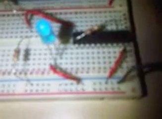 Flashing LED MCU