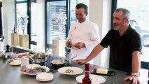 Célà Cuisine - Anguilles pochées aux oignons confits et romarin