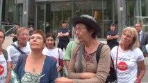 Paris (France) 08/08/2013 Les Anti-Nucleaire envahissent le Ministère de la Santé ©LTL News