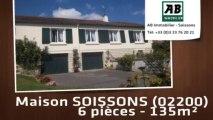 A vendre - maison - SOISSONS (02200) - 6 pièces - 135m²