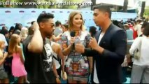Teen Choice Awards 2013 Replay Miguel red carpet interview Teen Choice Awards 2013