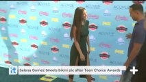 Selena Gomez tweets bikini pic after Teen Choice Awards