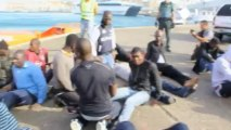 Migrants using toy boats are rescued off the coast of Spain