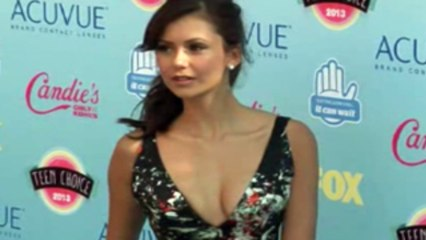 Nina Dobrev Exposes at 2013 Teen Choice Awards