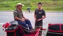 Une charrette qui roule à plus de 50Km/h !!! Le gros fake..