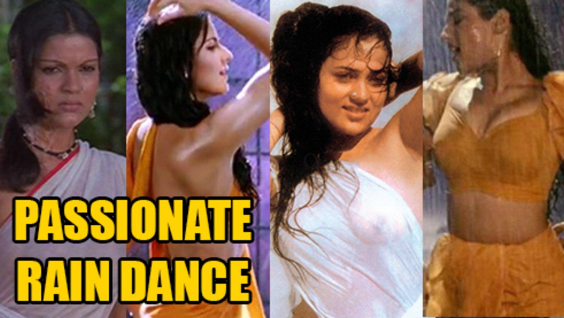 Top 5 Actresses Sexy Rain Dance In Wet Transparent Saree