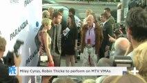 Miley Cyrus, Robin Thicke to perform on MTV VMAs