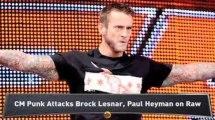 CM Punk Attacks Lesnar, Heyman on Raw