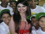 Prachi Desai lends her hand to the underprivileged children