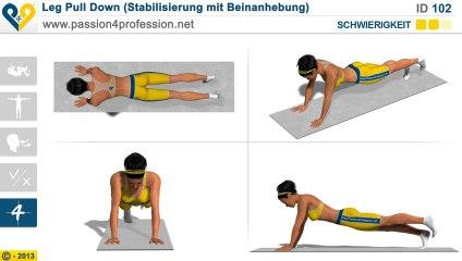Leg Pull Down (Stabilisierung mit Beinanhebung)