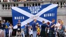 Scotland fans descend on Trafalgar Square