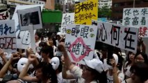Taiwanese protest over Japan WWII 'sex slaves'
