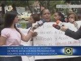 Familiares de pacientes del Hospital de Niños protestan por colapso de servicio de hematología