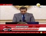 جانب من مؤتمر مجلس الوزراء بشأن فض إعتصامي رابعة والنهضة