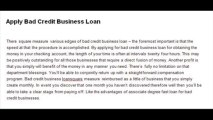 Bad Credit Business Loans – For Small Business Obtain Quick and advance Financial Solutions