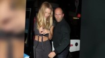 Rosie Huntington-Whiteley Flaunts Her Abs For Dinner With Protective Boyfriend Jason Statham