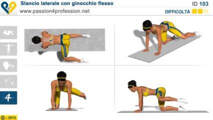 Slancio laterale con ginocchio flesso