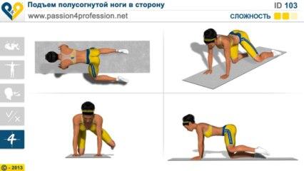 Подъем полусогнутой ноги в сторону