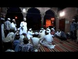 Devotees after namaz Maghrib in Jama masjid on the eve of Eid al Fitr
