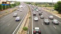 Routes: trafic record avec 877 km de bouchons - 17/08