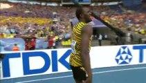Usain Bolt et la Jamaïque champions du monde du relais 4x100 m