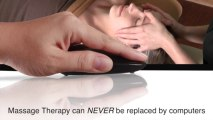 Massage Therapy can NEVER be replaced by computers - Royalty Free Massage Therapy Video #84