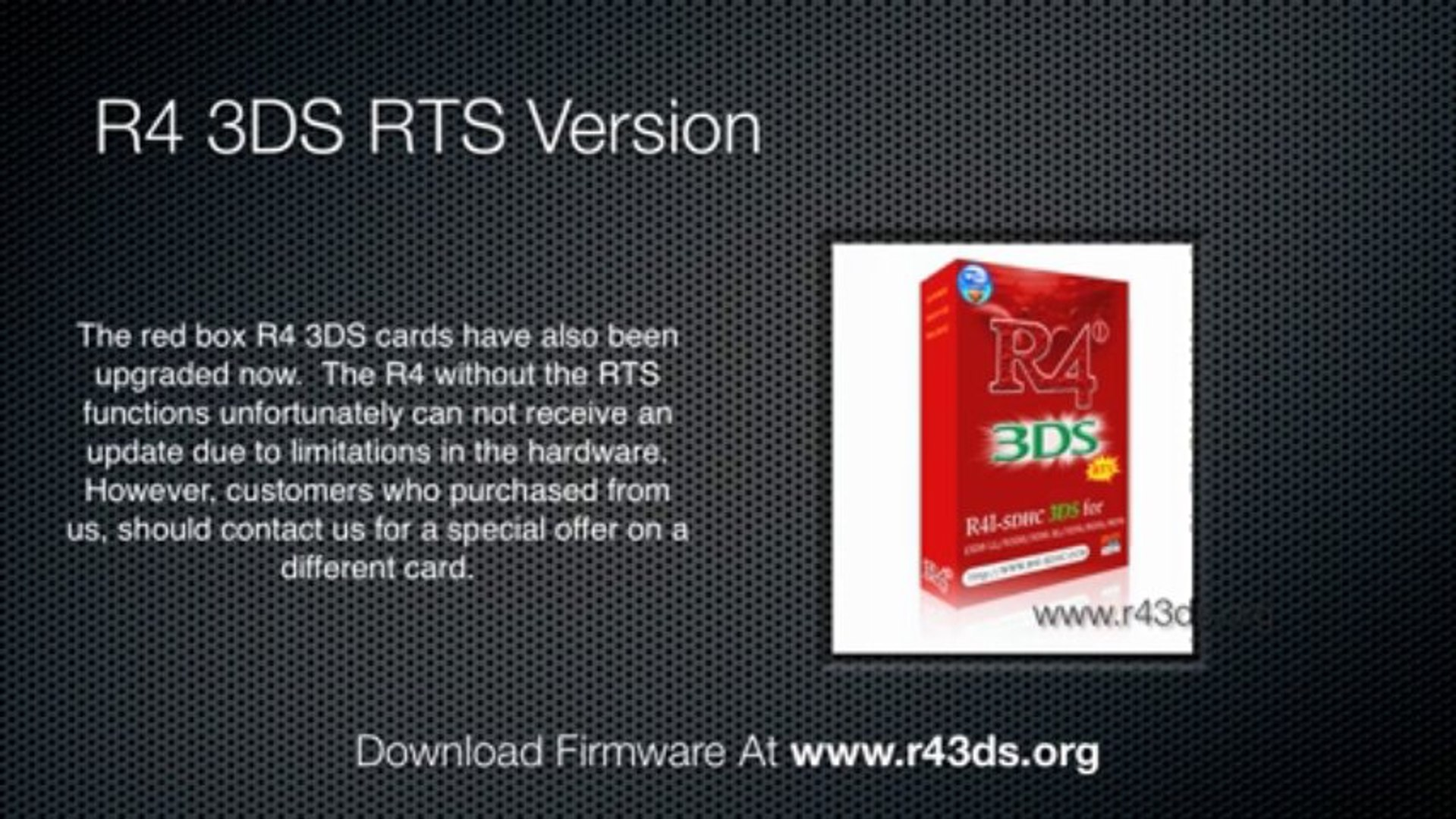 R4 3DS Updated For 6 2 0 Nintendo 3DS and Nintendo 3DS XL Systems
