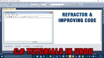 Part 4 - Create notepad using C# In Urdu (Refractorin & Improving Code)