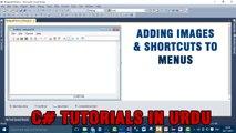Part 5 - Create notepad using C# In Urdu (Adding Images & ShortCuts to Menus)