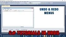 Part 6 - Create notepad using C# In Urdu (Undo and Redo Menus)