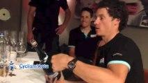 Eneco Tour 2013 - Sylvain Chavanel sabre le champagne !