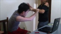 So funny and ridiculous fight between mother and son. Dumb!