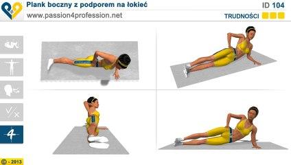 Plank boczny z podporem na łokieć