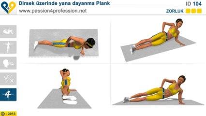 Dirsek üzerinde yana dayanma Plank