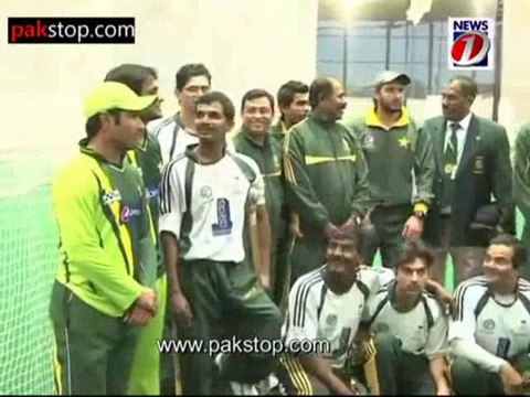 Pakistan Cricket Team with Pakistan Disabled Cricket Team