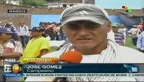 Fuerza pública reprime durante el Paro Nacional Agrario en Colombia