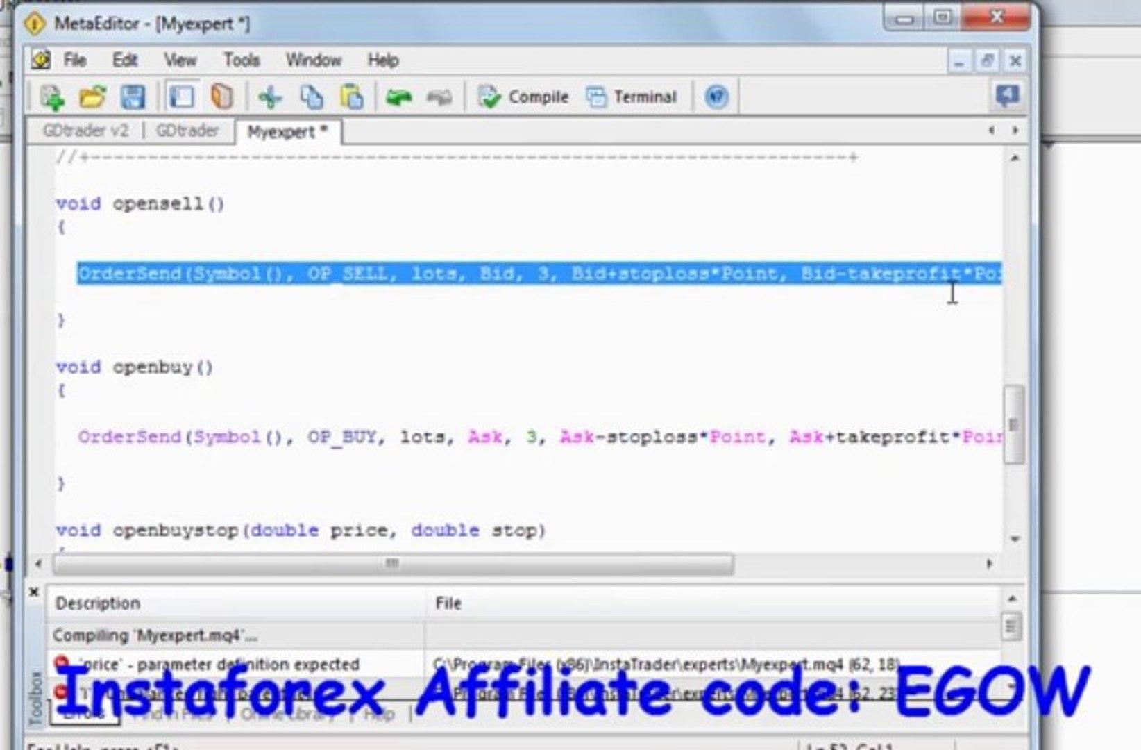 Mql4 Programming tutorial 20 - Pending orders functions