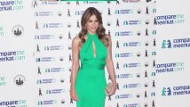 Liz Hurley Wows in Keyhole Green Gown at Meerkat Launch Party