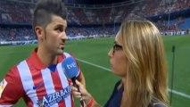 Neymar rescata al Barça y Villa marca su primer gol oficial con el Atlético