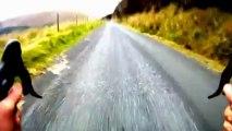 Descente du Mont Leinster en vélo à plus de 70km/h