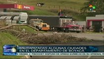 Cuarto día de paro nacional agrario en Colombia