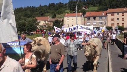 Manifestation contre le loup à Langogne, vendredi 13 août 2013