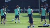 El Barça prepara el partido de liga contra el Málaga con Messi de baja