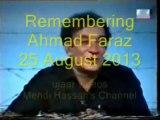 Mehdi Hassan ranjish hi sahi Remembering Ahmad Faraz