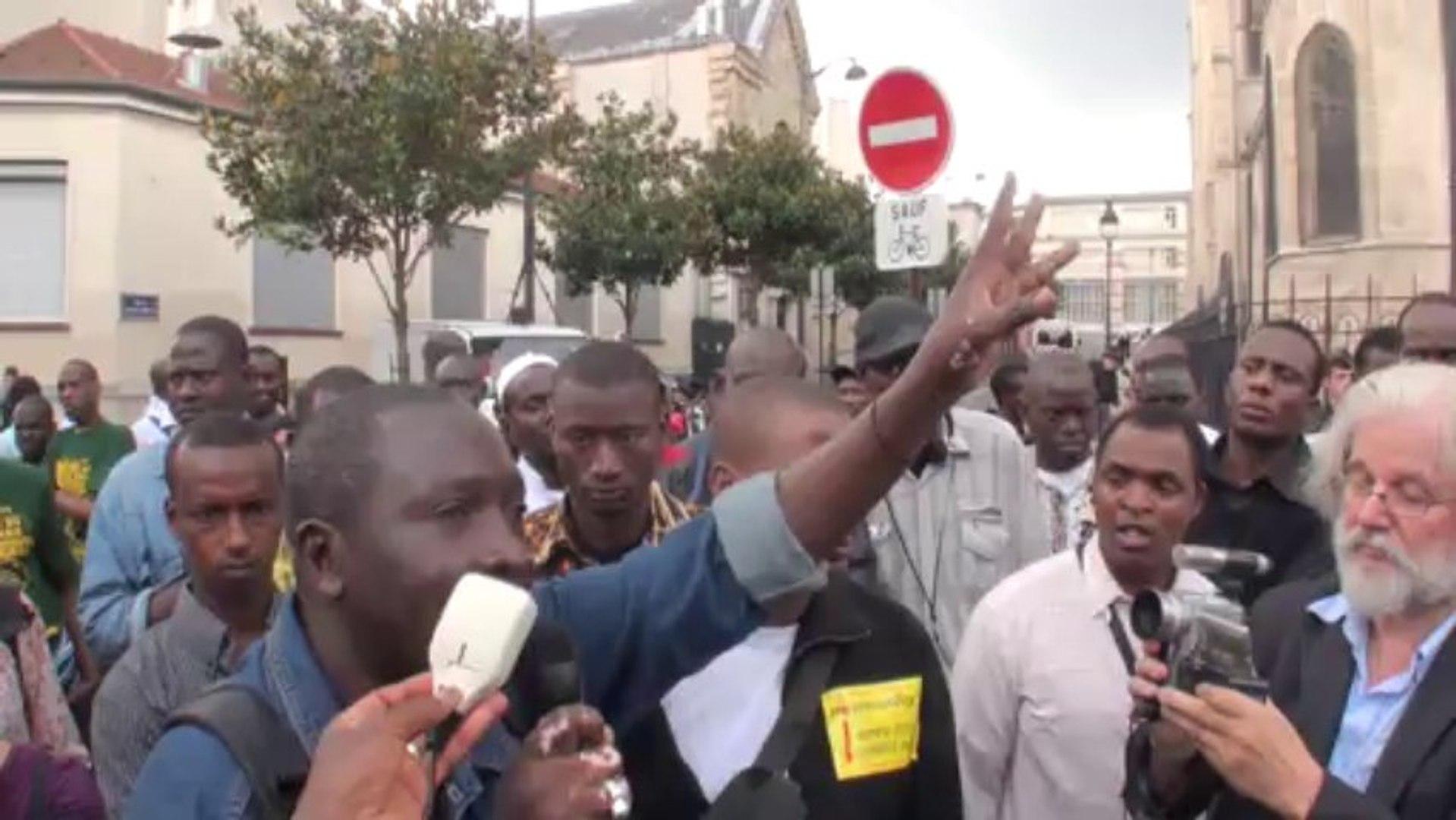 Paris (France) 24/08/2013 Sans papiers 17 ans St Bernard ©LTL News