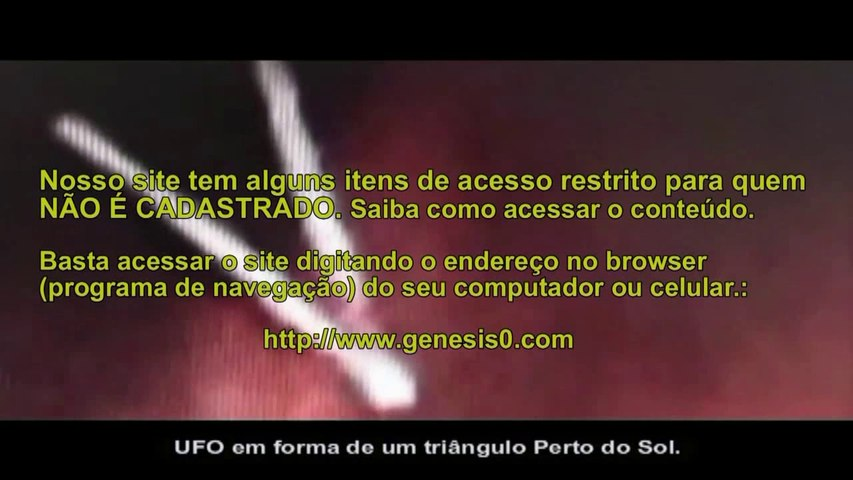 UFO vetor V da NASA no sol