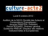 Mission culture-acte2 | audition de la SACD - Société des Auteurs et Compositeurs Dramatiques [aud