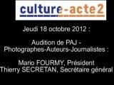 Mission culture-acte2 | audition de PAJ - Photographes-Auteurs-Journalistes- [audio]