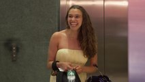 Elevator Makeover - Beachy Waves and Accessories for a Wedding Outfit that Pops