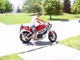 la nouvelle moto de régis